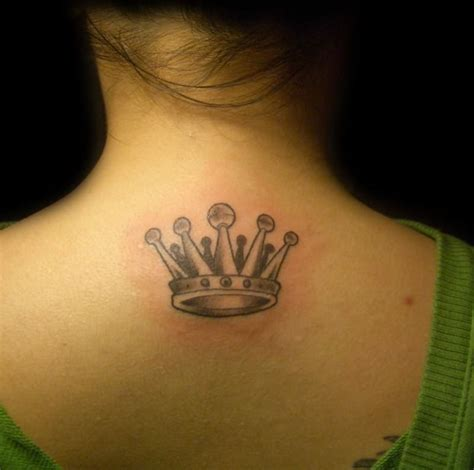 adorable crown neck tattoos