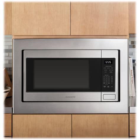 monogram  cu ft full size microwave blackstainless steel zebshss  buy