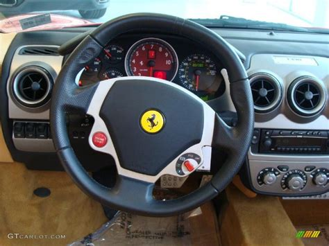 F430 Steering Wheel by 2005 F430 Spider F1 Beige Steering Wheel Photo