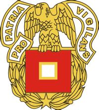 army signal corps regimental insignia vector image