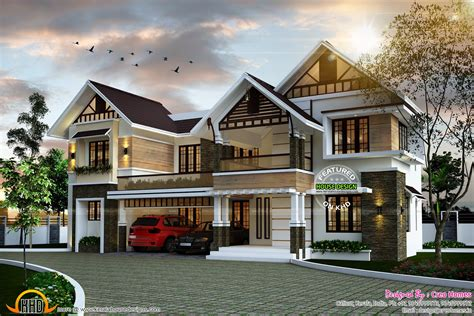 home designers sloping roof home plan kerala home design and floor