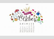 October Calendar Print + Desktop Wallpaper Dawn Nicole