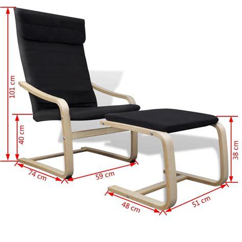 stoel en stoel stoel met armleuning en voetenbankje zwart online kopen
