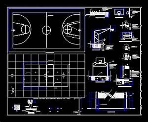 Mixed Court  Footbulll  Basketbol  Voley And Badmint U00d3n Dwg