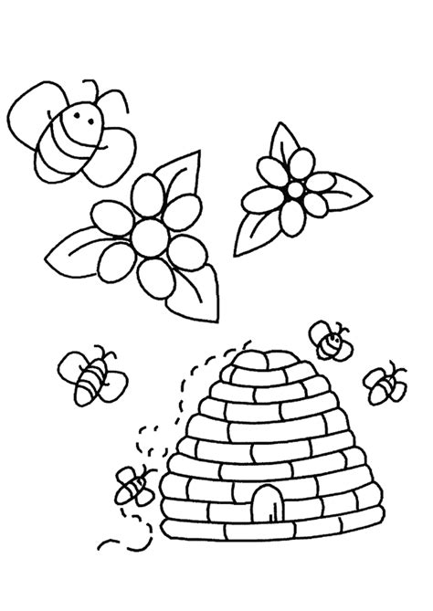 bijen kleurplaten animaatjesnl