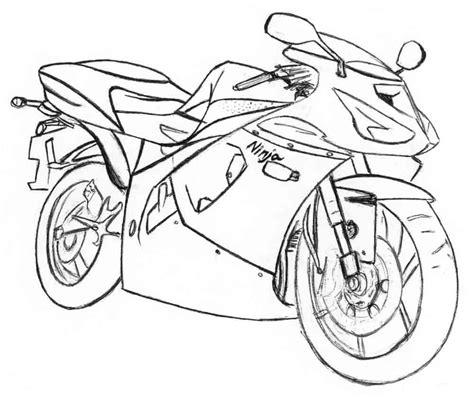Kleurplaat Mc 2 by Motorcycle Coloring Pages