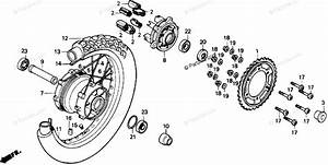 Honda Motorcycle 1988 Oem Parts Diagram For Rear Wheel