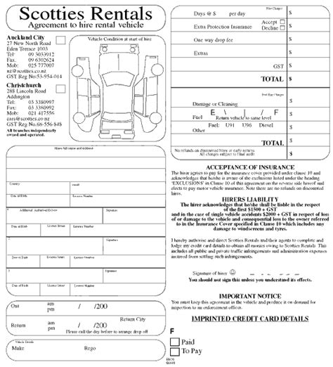 10 Best Photos Of Enterprise Vehicle Rental Agreement Form