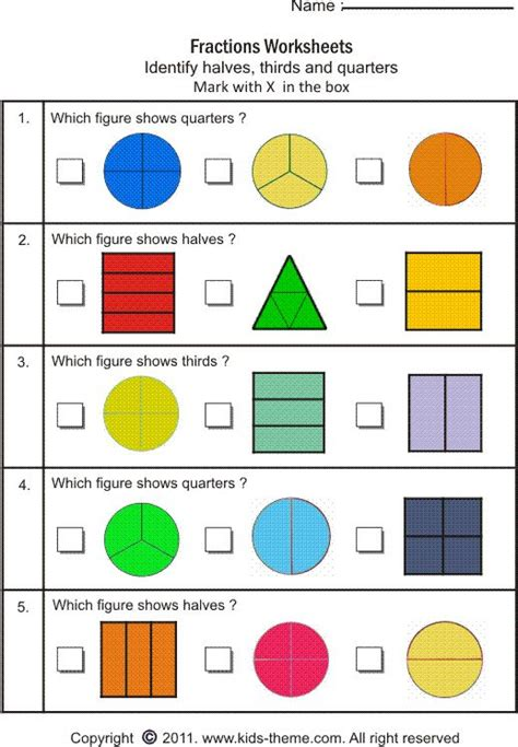 25+ Best Ideas About Math Fractions Worksheets On Pinterest  Math Fractions, Fractions
