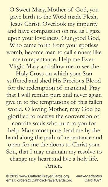 st mary  egypt prayer card