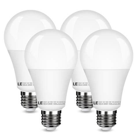 15w a21 e26 led bulbs daylight white 1500lm le 174
