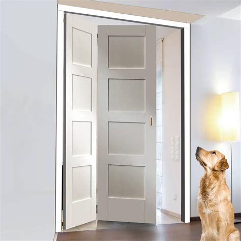 freefold white shaker 4 panel style folding 2 door set
