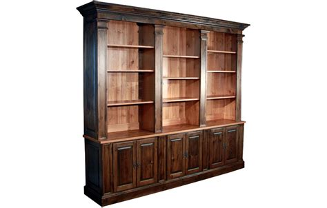 Bookcase Wall Units by Country Provincial Bookcase Wall Unit