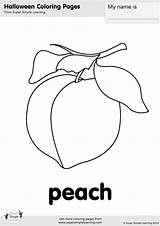 Coloring Peach Simple Super sketch template