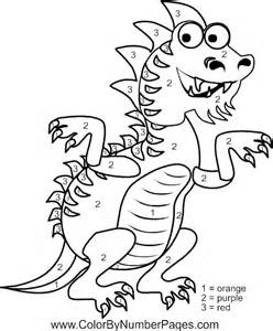 Dragon Color by Number Coloring Pages