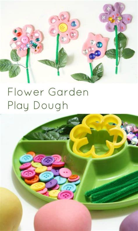 flower play dough invitation spring activities