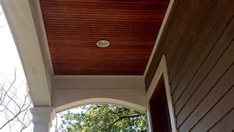 Cedar Porch Ceiling by Porch Beadboard Connecticut Power Washing