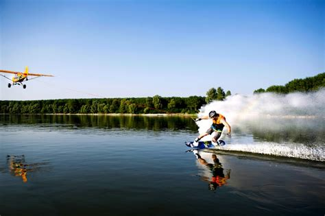 Biggest Wakeboard Boat In The World by First Ever Wakeboarding Behind A Plane Snowbrains