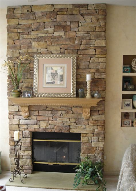 interior stone fireplace specializes  faux stone veneer