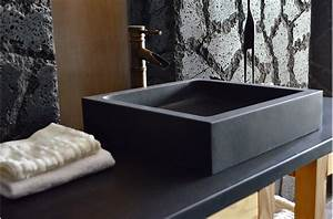 beautiful vasque noire mat gallery awesome interior home With meuble 60x40