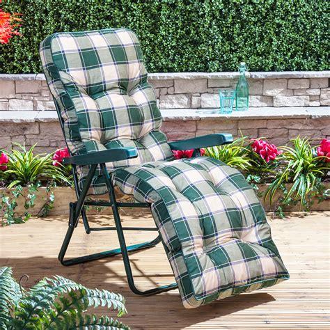 alfresia luxury garden relaxer chair cushion ebay