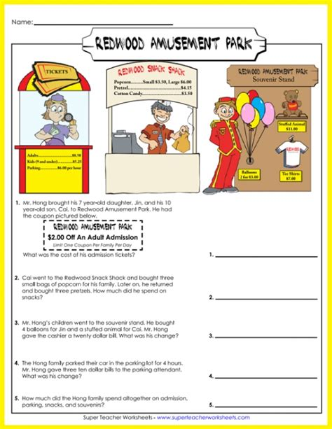 multiplication  division word problems grade