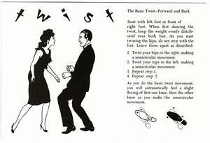 Postcard Of The Twist Dance Steps Diagram