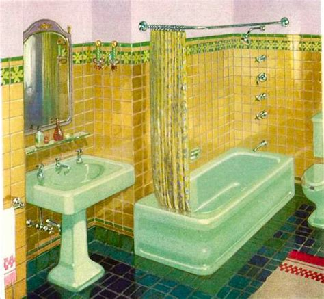 Sinking In The Bathtub 1930 by 1920s 1930s Archives Retro Renovation