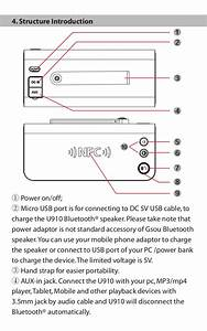 Gsou U910 Bluetooth Speaker User Manual