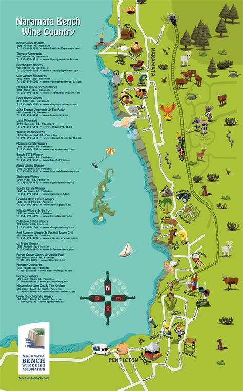 Naramata Bench Wine Country Map  Naramata Bench Winery