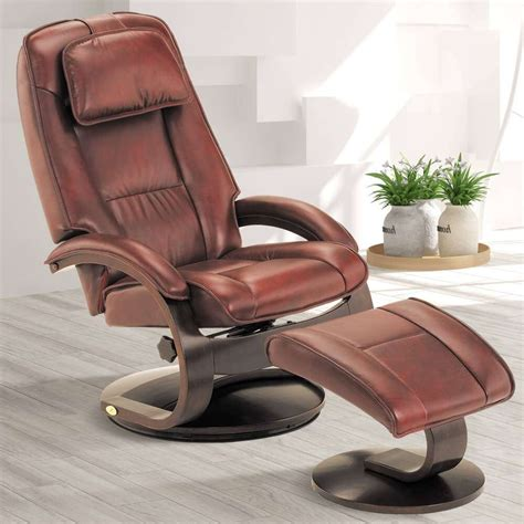 Leather Swivel Recliners by Rainier Swivel Leather Recliner