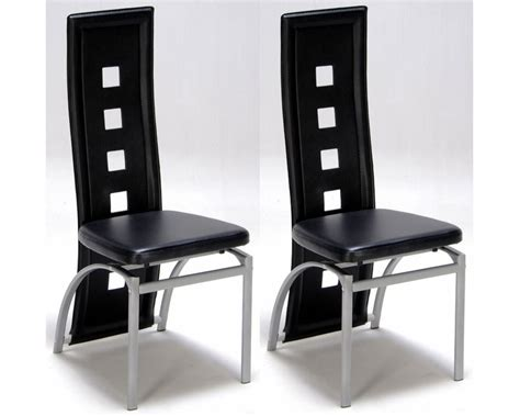 chaise salon design lot de 2 chaises design noir meubles de salon