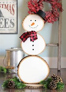 Decoration Noel Diy : the craft patch reversible fall and christmas wood slice decoration ~ Farleysfitness.com Idées de Décoration