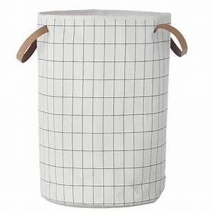 Maison Du Monde Panier À Linge : ferm living w schekorb grid schwarz wei 40x60cm ~ Farleysfitness.com Idées de Décoration