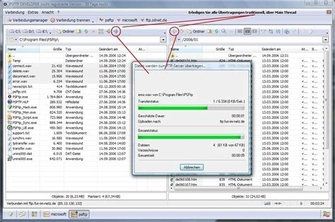 psftp professional ftp client mit resume funktion dr