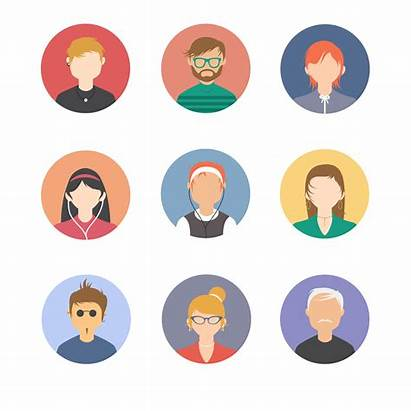 Avatars Vector Faces Icons Profile User Pack