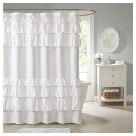 Target Shower Curtains by Solid Ruffle Shower Curtain Solid White Target