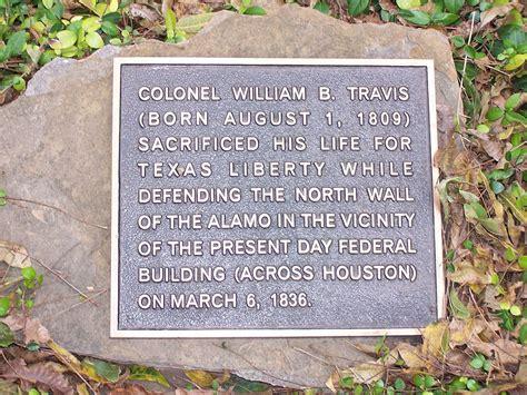 William Travis birthdeathplaque - William B. Travis ...