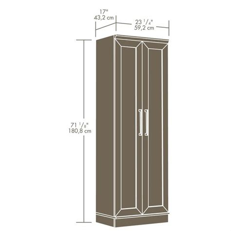 sauder homeplus storage cabinet dakota oak pantry ebay