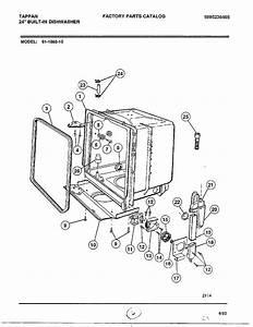 Tub Diagram  U0026 Parts List For Model 61108310 Frigidaire