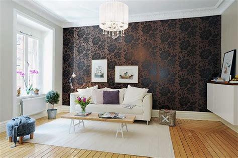 elegant interiors  damask wallpapers