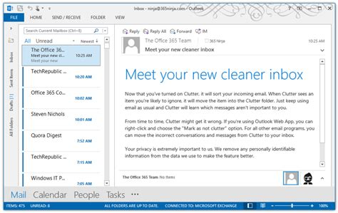 Office 365 Outlook Focused Inbox by How To Use Clutter For Office 365 Bettercloud Monitor