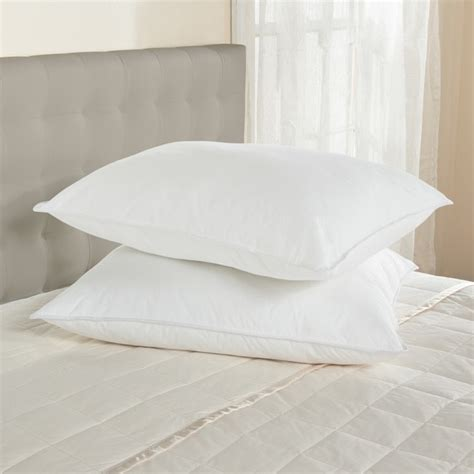50 50 white goose feather blend hotel pillow from downlite