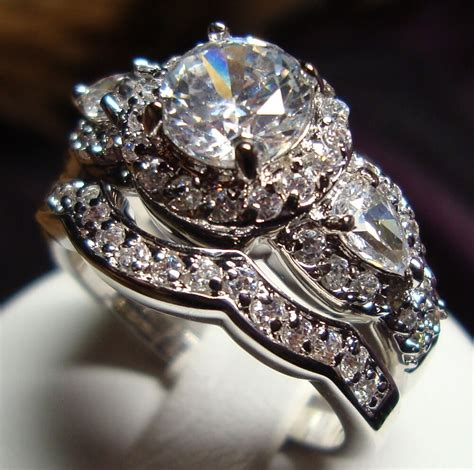 Wedding Rings by Stunning Cz Vintage Style Engagement Wedding Rings