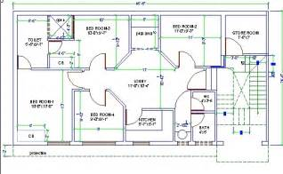 design cad 4 bed room house design autocad 3d cad model grabcad
