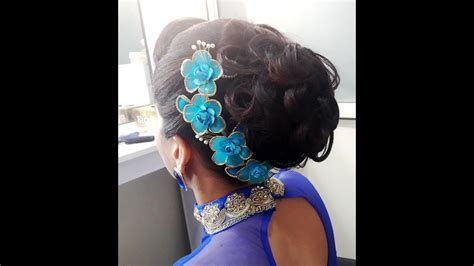 messy bun hairstyle  curls party wear bun youtube
