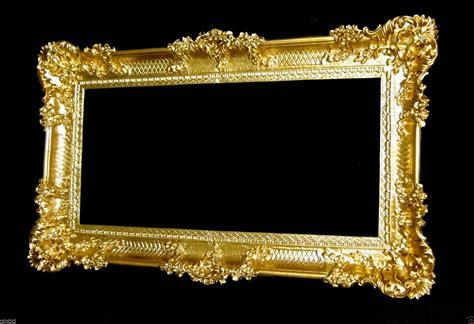 gold bilderrahmen gro 223 er bilderrahmen barock antik gold 96x57 bilderrahmen barock fotorahmen ebay