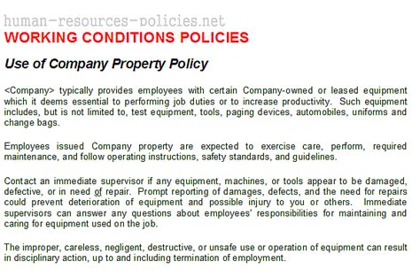 Sample Human Resources Policies, Sample Procedures For