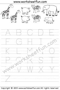 letter tracing worksheet capital letters animal theme letter tracing tracing letters