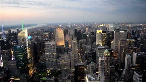 New York City Night View From Empire State 1080p Youtube